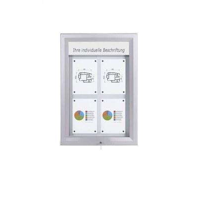 Schaukasten Premium BT46 Outdoor LED 2x2 DIN A4 (Außenformat: 585x760mm) Gehäuse und Rahmen aus Aluminium - Schaukasten PREMIUM LED BT46 Outdoor 2x2