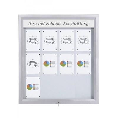 Schaukasten Premium BT46 Outdoor LED 4x3 DIN A4 (Außenformat: 1.025x1.167mm) Gehäuse und Rahmen aus Aluminium - Schaukasten PREMIUM LED BT46 Outdoor 4x3