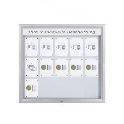 Schaukasten Premium BT46 Outdoor LED 5x3 DIN A4 (Außenformat: 1.245x1.067mm) Gehäuse und Rahmen aus Aluminium - Schaukasten PREMIUM LED BT46 Outdoor 5x3