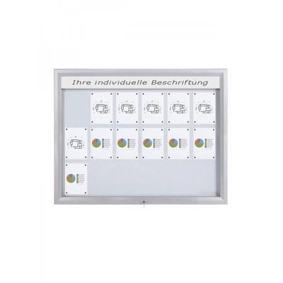 Schaukasten Premium BT46 Outdoor LED 6x3 DIN A4 (Außenformat: 1.465x1.067mm) Gehäuse und Rahmen aus Aluminium - Schaukasten PREMIUM LED BT46 Outdoor 6x3