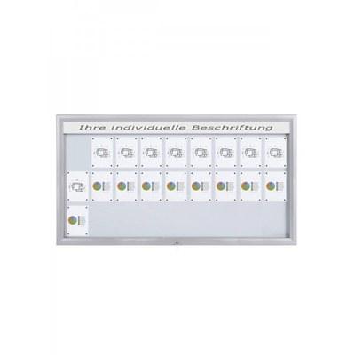 Schaukasten Premium BT46 Outdoor LED 9x3 DIN A4 (Außenformat: 2.125 x 1.067mm Gehäuse und Rahmen aus Aluminium - Schaukasten PREMIUM LED BT46 Outdoor 9x3