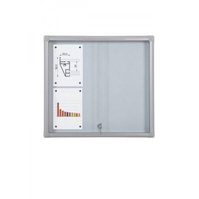 Schaukasten Schiebetür BT58 Indoor 3x2 DIN A4 (Außenformat: 720x675mm) Gehäuse und Rahmen aus Aluminium - Schaukasten Schiebet r BT58 Indoor 3x2