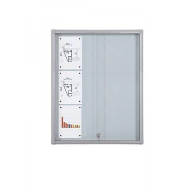 Schaukasten Schiebetür BT58 Indoor 3x3 DIN A4 (Außenformat: 720x982mm) Gehäuse und Rahmen aus Aluminium - Schaukasten Schiebet r BT58 Indoor 3x3