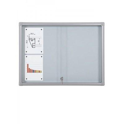 Schaukasten Schiebetür BT58 Indoor 4x2 DIN A4 (Außenformat: 940x675mm) Gehäuse und Rahmen aus Aluminium - Schaukasten Schiebet r BT58 Indoor 4x2
