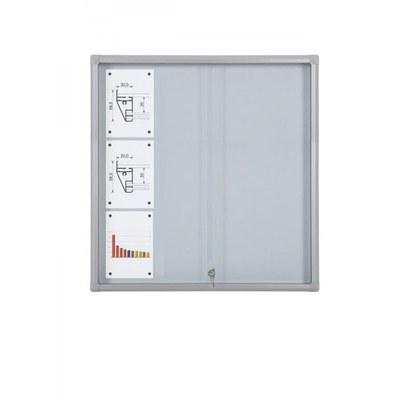 Schaukasten Schiebetür BT58 Indoor 4x3 DIN A4 (Außenformat: 940x982mm) Gehäuse und Rahmen aus Aluminium - Schaukasten Schiebet r BT58 Indoor 4x3