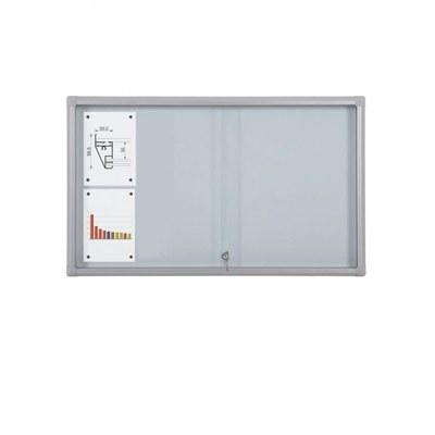 Schaukasten Schiebetür BT58 Indoor 5x2 DIN A4 (Außenformat: 1.160x675mm) Gehäuse und Rahmen aus Aluminium - Schaukasten Schiebet r BT58 Indoor 5x2