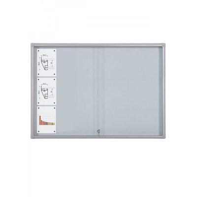 Schaukasten Schiebetür BT58 Indoor 6x3 DIN A4 (Außenformat: 1.380x982mm) Gehäuse und Rahmen aus Aluminium - Schaukasten Schiebet r BT58 Indoor 6x3