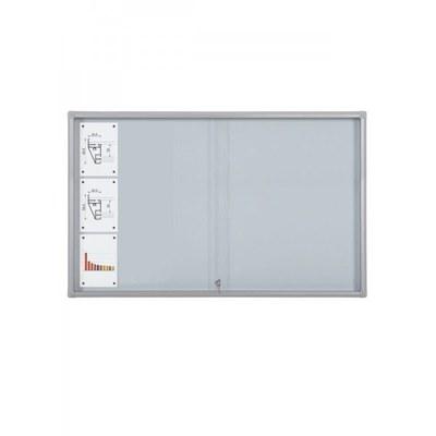 Schaukasten Schiebetür BT58 Indoor 7x3 DIN A4 (Außenformat: 1.600x982mm) Gehäuse und Rahmen aus Aluminium - Schaukasten Schiebet r BT58 Indoor 7x3
