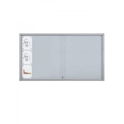 Schaukasten Schiebetür BT58 Indoor 8x3 DIN A4 (Außenformat: 1.815x982mm) Gehäuse und Rahmen aus Aluminium - Schaukasten Schiebet r BT58 Indoor 8x3