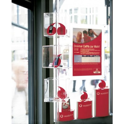 Shopsystem Mobilfunk Vodafone Individuelle Ausführung & Format - Shop-Displays-Drehw rfeldisplay