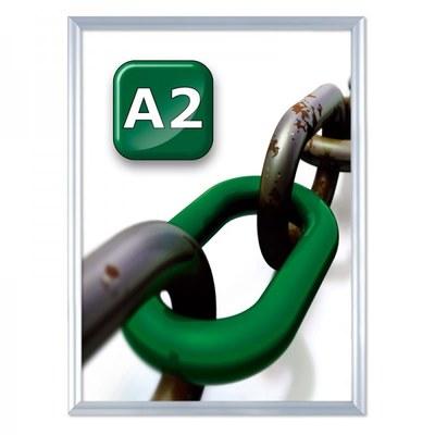 Slide-In Einschubrahmen Einlegeformat: DIN A2 (420x594 mm) DIN A2 (420x594 mm) - slide Inn A2 25er Gehrung
