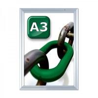 Slide-In Einschubrahmen Einlegeformat: DIN A3 (297x420 mm) Profil: 24 mm - silber-eloxiert - Slide Inn Rahmen Wand A3