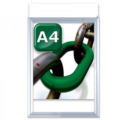 Slide-In Einschubrahmen Einlegeformat: DIN A4 (210x297 mm) DIN A4 (210x297 mm) - klapprahmen-slide in a4