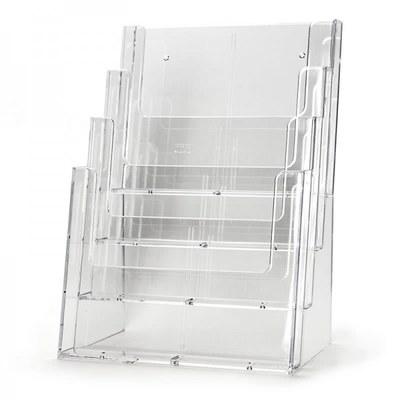 Tischständer - Mehrfach Einlegeformat: DIN A4 (210x297 mm) DIN A4 (210x297 mm) - Dispenser-DIN-A4-4-fach-Tisch-PRO216