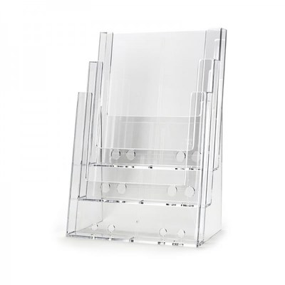 Tischständer - Mehrfach Einlegeformat: DIN A5 (148x210 mm) DIN A5 (148x210 mm) - dispenser-din-a5-3-fach-tisch-pro55