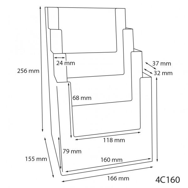 Dispenser-DIN-A5-4-fach-Tisch-PRO56-Zeichnung