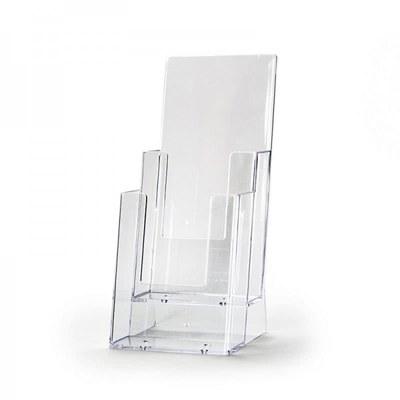 Tischständer - Mehrfach Einlegeformat: Lang-DIN (105x210 mm) Lang-DIN (105x210 mm) - Dispenser-Lang-DIN-2x-Hintereinander-2C110