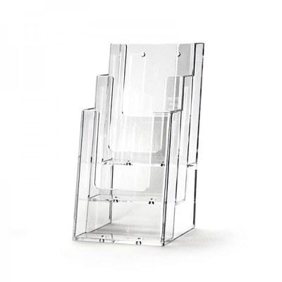 Tischständer - Mehrfach Einlegeformat: Lang-DIN (105x210 mm) Lang-DIN (105x210 mm) - Dispenser-Lang-DIN-3x-Hintereinander-3C104