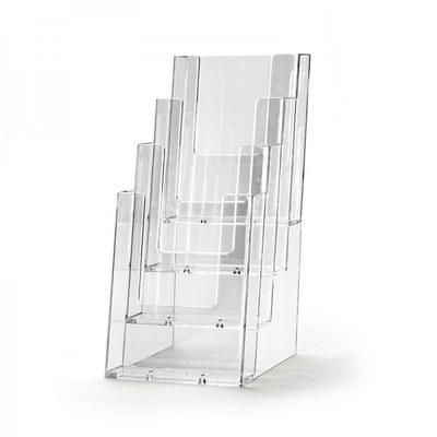 Tischständer - Mehrfach Einlegeformat: Lang-DIN (105x210 mm) Lang-DIN (105x210 mm) - Dispenser-DIN-Lang-4-fach-Tisch-PRO57