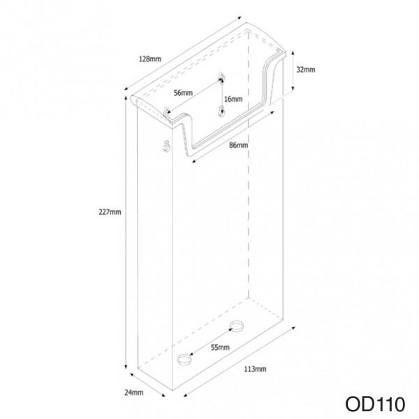 Dispenser-LANG-DIN-wasserabweisend-OD110-Zeichnung