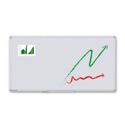 Whiteboard ECO zur Wandmontage Außenformat: 1.800x900x15 mm (BxHxT) Sichtformat: 1.766x866 mm (BXH) - Whiteboard-ECO_1800x900_Übersicht