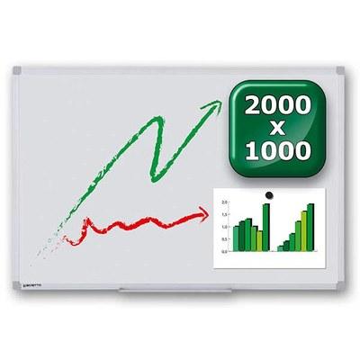 Whiteboard PREMIUM zur Wandmontage Außenformat: 2.000x1.000mm (B/H) 2.000x1.000x15 mm - whiteboard-premium-2000x1000