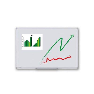 Whiteboard PREMIUM zur Wandmontage Außenformat: 600x450mm (B/H) Sichtformat: 566x416 mm (BxH) - Whiteboard-ECO_600x450_Übersicht